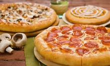 Medium Pizza Meal with a Cookie or $15 for $30 Worth of Pizza and Drinks at Godfather's Pizza at Grimes Plaza