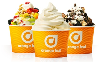 $6 for $10 Worth of Frozen Yogurt at Orange Leaf Frozen Yogurt