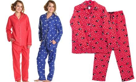 Angelina 100% Cotton Flannel Women's Pajama Set