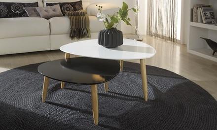 Conjunto de duas mesas de centro disponíveis em quatro cores, agora por 89,90€ » Envio Gratuito