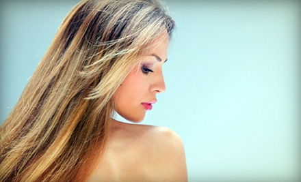 $79 for Partial Highlights or Haircut and Style with All-Over Color at Scott Miller Studios ($145 Value)