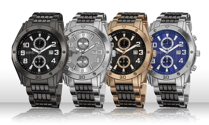 Groupon Goods Global GmbH: August Steiner Men's Watch in Choice of Colour for £49.99 (70% Off)