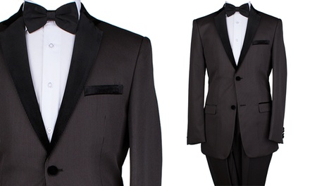 Eleganza Men's 2-Piece Pinstripe Tuxedo