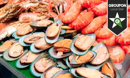 Gambamar — Campo Alegre: take-away de marisco para duas pessoas com bebidas por 19,90€