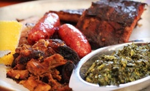 $29 for Barbecue and Drinks for Two at SuzyQue's BBQ & Bar (Up to $64 Value)