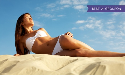 Five Tanning Visits or One Spray Tan at Sun Tan City (Up to 79% Off)