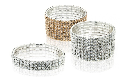 Stretch Bracelets with Swarovski Elements Crystals