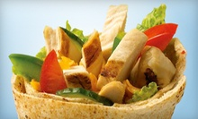 $15 for a Six-Visit Punch Card for $5 Worth of Pitas and Salads Each Visit at Extreme Pita – San Jose ($30 Value)