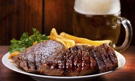 Pub Dinner with Wine or Beer for Two or Four at Copper Face Jacks (Up to 44% Off)
