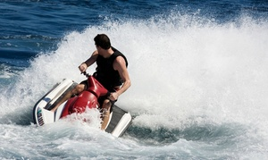 One-hour Jet-ski Rental For Two With A Full-day Cabana Rental From A&a Beach Services (39% Off)