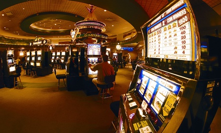 groupon daily deal - 1- or 2-Night Stay for Two with Dining and Casino Credit at Bear Claw Casino & Hotel in Saskatchewan