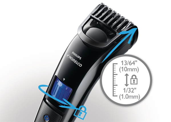 philips norelco qt4000 42 beard trimmer 3100 fast rechargeable adapter cordless ebay. Black Bedroom Furniture Sets. Home Design Ideas