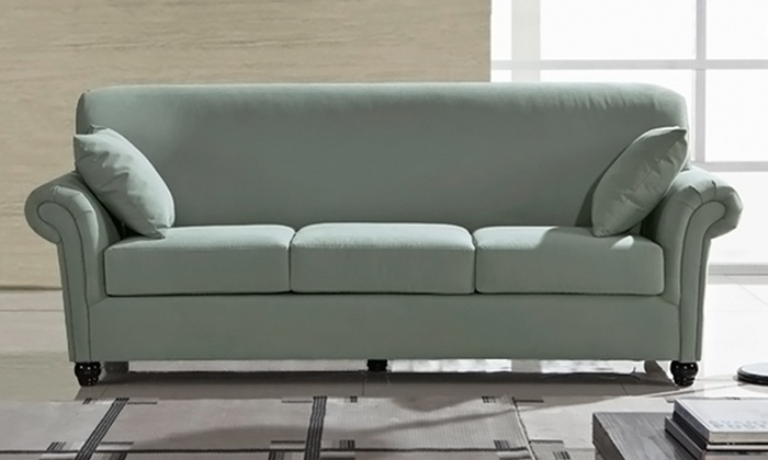 Zhelin microfiber sofa groupon for Sofa 84 inch