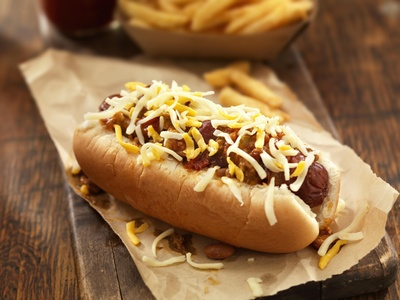 Hot dog special for $5.50 at Mr Beef & Gyros