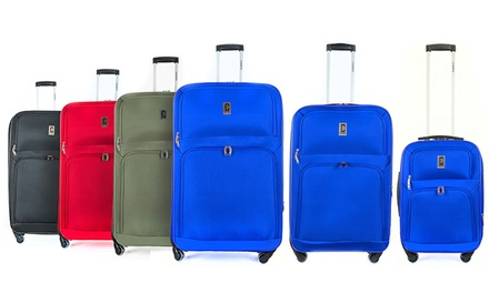 3-Piece Soft Case Spinner Luggage Set