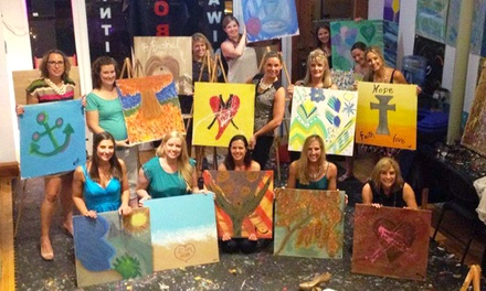 BYOB Abstract Painting Class for 1, 2, 4, or 8, or Private Party for Up to 18 (Up to 61% Off)