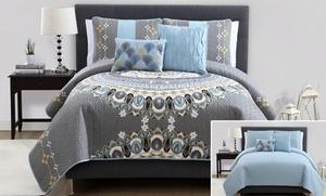 Marrakech 5-piece Reversible Quilt Set