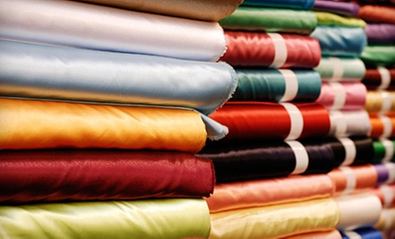 $25 for $50 Worth of Home Decor Fabric, Foam Rubber, and Supplies at Instock Fabrics