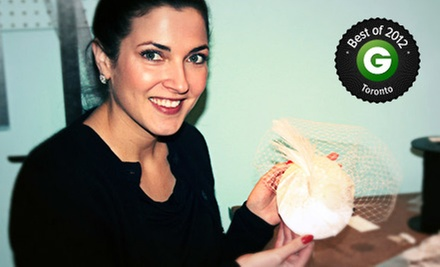 Four-Hour Fabulous Fascinators Millinery Workshop for One or Two at The Make Den (Up to 55% Off)
