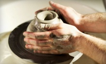 Pottery-Clay Class for One or Two, or Six-Week Intro to Oil Painting Class for One at Work/Shop (Up to 55% Off)