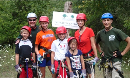 Guided Zipline Tour for Two People on the Ultimate or Premier Course at Dagaz Acres (Up to 46% Off)