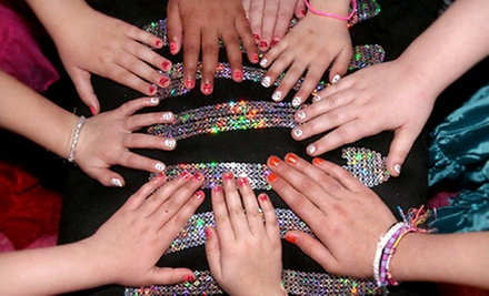 $12 for Nail Art, Makeup, Colored-Hair Strip, Glitter Hairspray, Dress-Up, and Pink Runway at Gemz Salon ($25 Value)