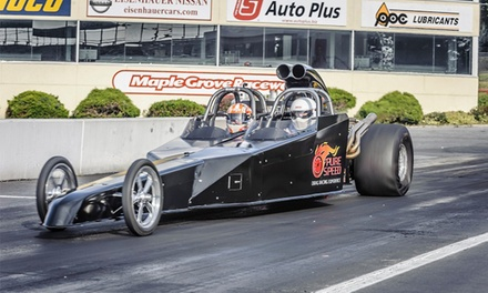 Dragster Ride-Along or Drive from Pure Speed Drag Racing Experience (Up to 40% Off). Four Options Available.