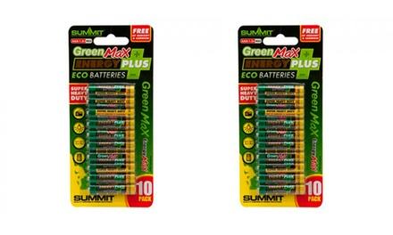 Pack de 10 ou 20 pilhas Green Max Energy Plus desde 9,90€