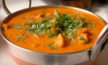 $29 for a Three-Course Indian Meal with an Appetizer and Dessert for Two at Cafe Taj (Up to $58.43 Value)