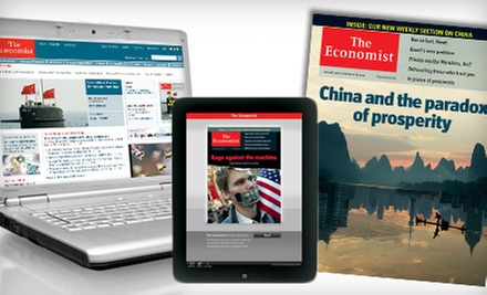 "$59 for 51-Issue Subscription to ""The Economist"" ($126.99 Value)"