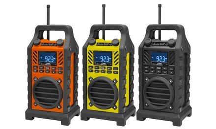 Pyle Rugged and Portable Bluetooth Speaker with FM Radio in Black, Orange, or Yellow