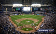 One Ticket to a Milwaukee Brewers Game at Miller Park (Up to Half Off). Five Seating Options and Four Games Available.