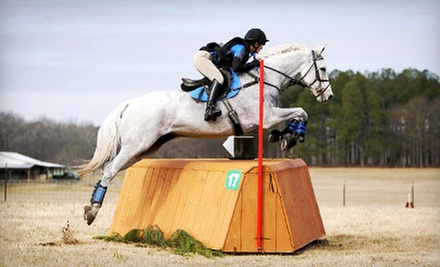 One or Four Private Horseback-Riding Lessons from JH Eventing (Up to 52% Off)