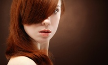 Haircut Package with Brow or Lip Wax and Optional Color or Partial Highlights at Studio Salon &amp; Spa (Up to 66% Off)