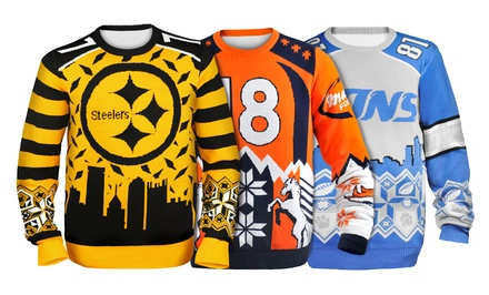 NFL Player Jersey-Inspired Ugly Holiday Sweaters