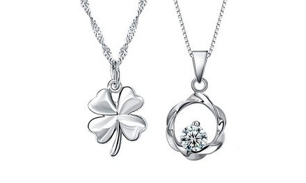 Colar com pendente de prata Drop ou Leaf por 7,99€