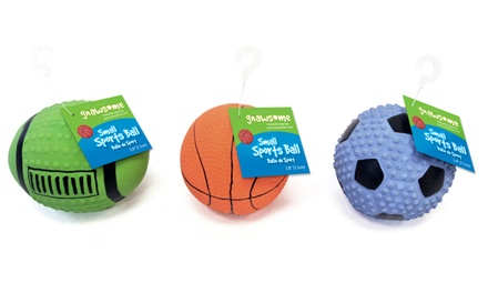 Assorted 3-Pack of Gnawsome Latex Sports Balls