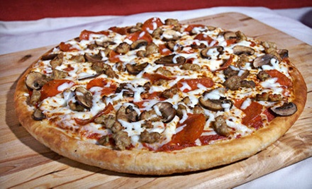 $10 for a Meal with a Two-Topping Pizza, ParmesanPops, and Soda at East of Chicago Pizza Co in Alliance ($20.70 Value)