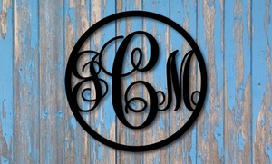 "One Or Two 15"" Vine Monogram Signs From Metal Unlimited (up To 51% Off)"