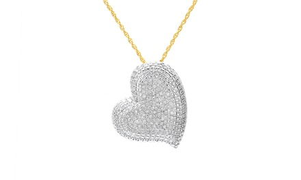 1.00 CTTW Diamond Heart Pendant