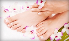 Two Mani-Pedis or One Mani-Pedi with Option for Paraffin Treatment and Hand Massage at Karma Hair Salon (Up to 69% Off)