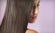 Blowout and Options for Haircut or Keratin Color-Lock Smoothing Treatment at Cactus Salon &amp; Spa (Up to 76% Off)