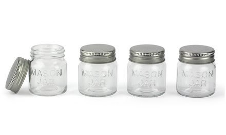 Set of 8 Mason Craft Jars with Lids
