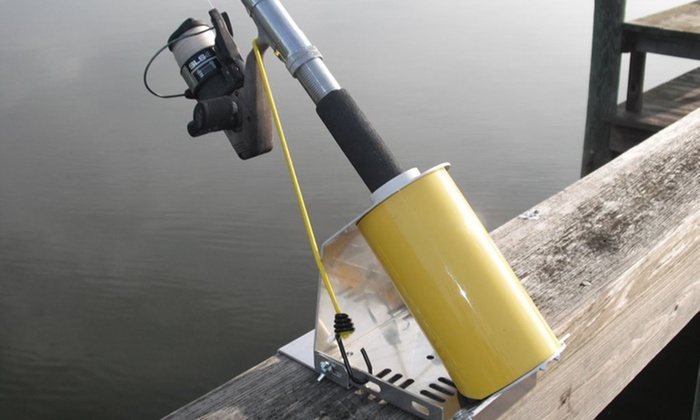 Rodkeeper fishing rod holder deal of the day groupon for Pier fishing rod holder