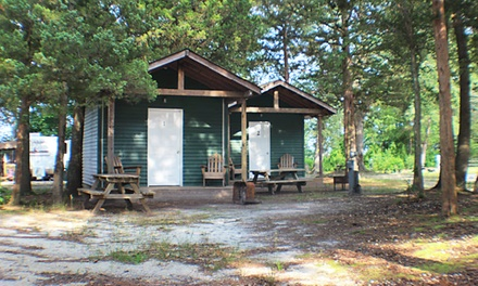 Two or Four Night Basic Cabin Rental at Turtle Run Campground (Up to 49%Off)