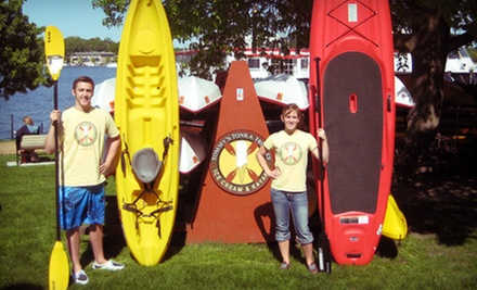 Two-Hour Rental of One Tandem Kayak or One or Two Paddleboards or Single Kayaks at Tommy&#x27;s Tonka Trolley (Half Off)