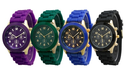 Silicone Quartz Watch for Men and Women