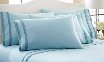 Fine Linens 1,000 Thread-Count Egyptian Cotton-Rich 6-Piece Sheet Sets