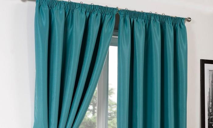 Cheap teal curtains 2