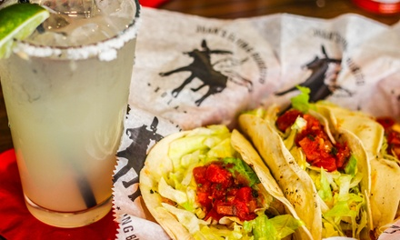 Mexican Food for Lunch or Dinner with Drinks at Juan's Flying Burrito (40% Off)
